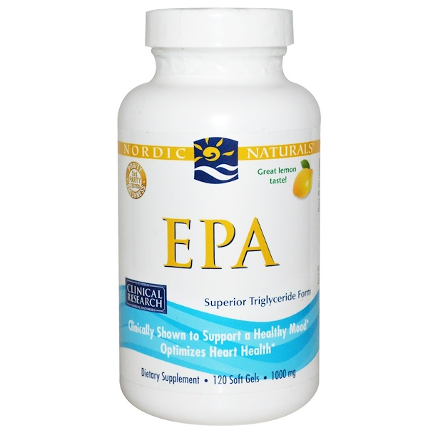 Nordic Naturals, EPA, Lemon, 1000 mg, 120 Soft Gels (Discontinued Item)