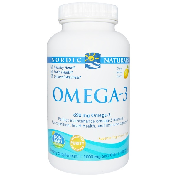 Nordic Naturals, Omega-3、Lemon、690 mg、120ソフトジェル