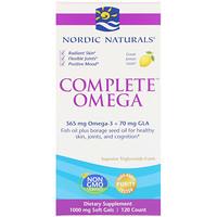 Омега Комплекс с лимоном, 1000 мг, 120 гелевых капсул - фото
