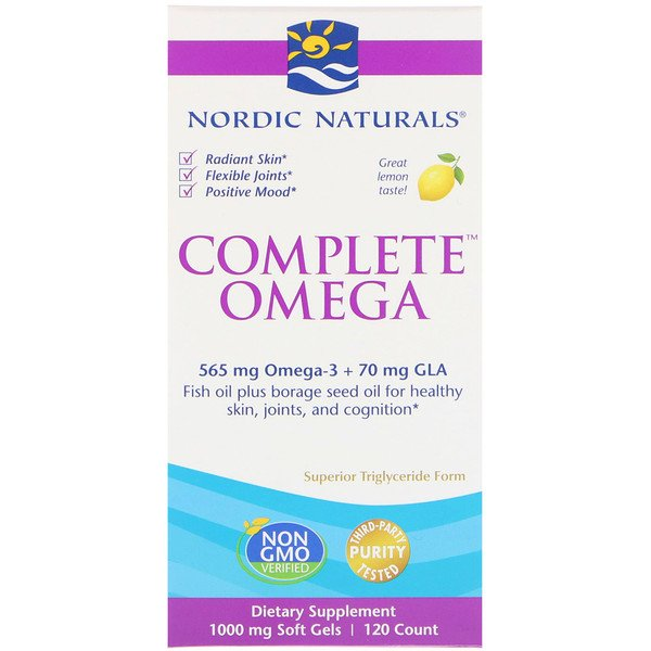 Complete Omega, Lemon, 1000 mg, 120 Soft Gels