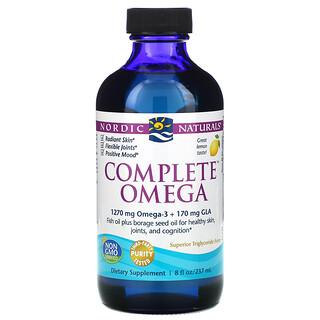 Nordic Naturals, Complete Omega, limón, 8 oz líquidas (237 ml)