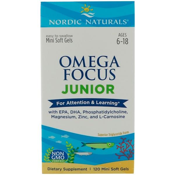 Nordic Naturals, Omega Focus Junior, 120 Mini Soft Gels (Discontinued Item)