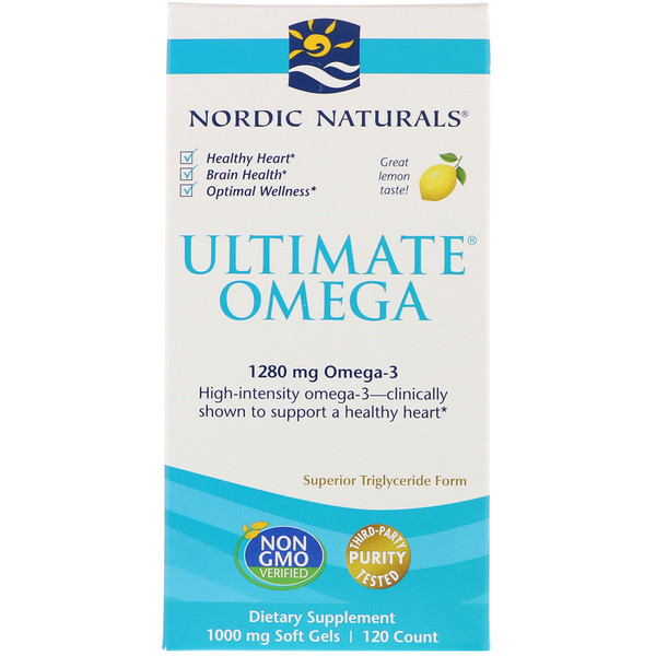 Ultimate Omega, Lemon, 1,280 mg, 120 Soft Gels