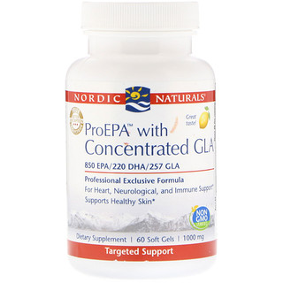 Nordic Naturals, ProEPA with Concentrated GLA, Lemon, 1000 mg, 60 Soft Gels