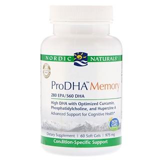 Nordic Naturals, ProDHA Memory, 975 mg, 60 Soft Gels