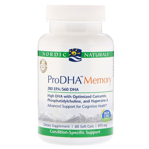 Nordic Naturals, ProDHA Memory, 975 mg, 60 Soft Gels (Discontinued Item)