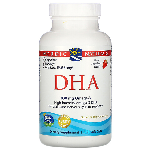 DHA, Strawberry, 180 Soft Gels