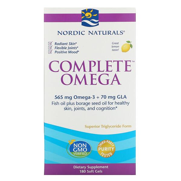 Complete Omega,柠檬味,180 粒软凝胶