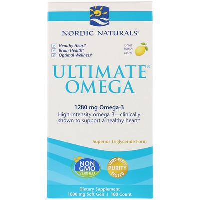 Купить Ultimate Omega, вкус лимона, 1, 280 мг, 180 мягких капсул