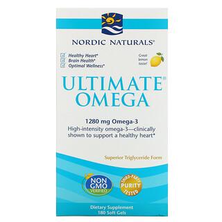 Nordic Naturals, Ultimate歐米伽,檸檬味,1,280 毫克,180 粒軟凝膠