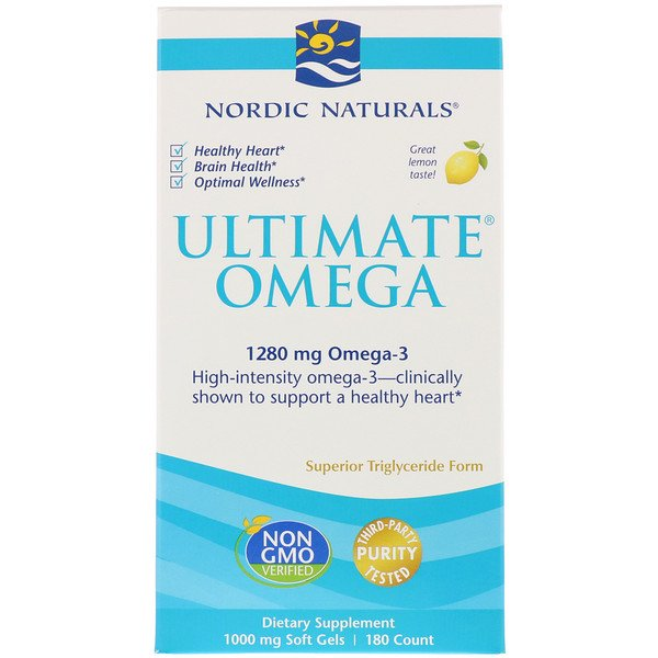 Ultimate Omega, Lemon, 1,280 mg, 180 Soft Gels
