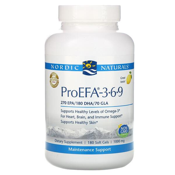 ProEFA - 3-6-9, Lemon , 1,000 mg, 180 Softgels