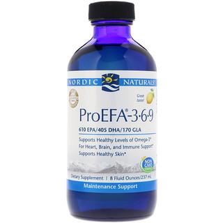 Nordic Naturals, ProEFA 3-6-9, Lemon Flavor, 8 fl oz (237 ml)