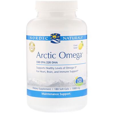 Nordic Naturals Arctic Omega, лимон, 1000мг, 180мягких желатиновых капсул