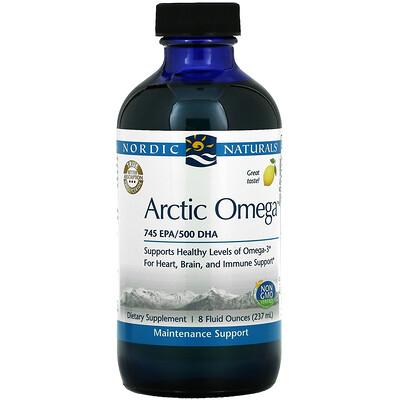 Nordic Naturals Arctic Omega, Lemon, 8 fl oz (237 ml)