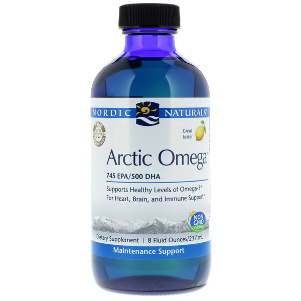 Nordic Naturals, Arctic Omega, Lemon Flavor, 8 fl oz (237 ml) (Discontinued Item)