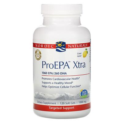 Купить Nordic Naturals ProEPA Xtra, лимон, 1000мг, 120 мягких таблеток