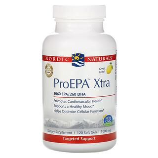 Nordic Naturals, ProEPA Xtra, Lemon, 1,000 mg, 120 Soft Gels