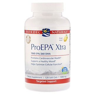 Nordic Naturals, ProEPA Xtra, Lemon Flavor, 1000 mg, 120 Soft Gels