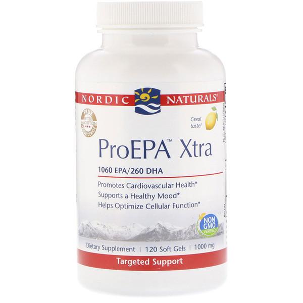 ProEPA Xtra, Lemon, 1,000 mg, 120 Soft Gels