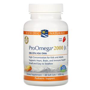 нордик Натуралс, ProOmega 2000 Jr., Strawberry, 650 mg, 60 Soft Gels отзывы покупателей