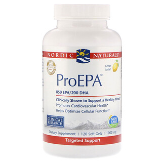Nordic Naturals, ProEPA, Lemon, 1,000 mg, 120 Softgels