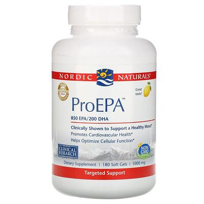 Nordic Naturals ProEPA, Lemon , 1,000 mg, 180 Softgels