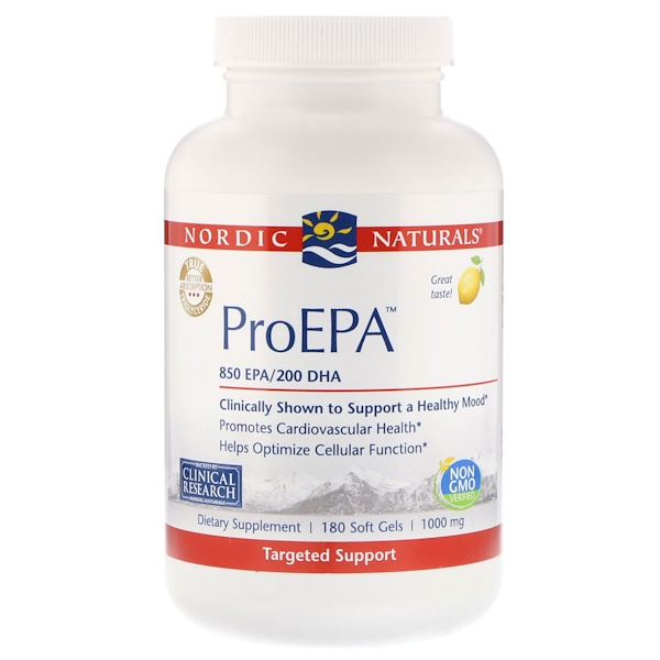 Nordic Naturals, ProEPA, Lemon Flavor, 1000 mg, 180 Softgels