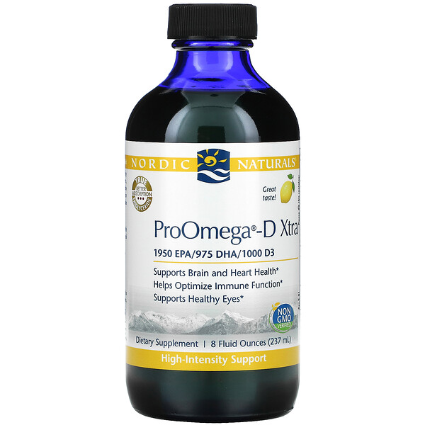 ProOmega-D Xtra, Lemon, 8 fl oz (237 ml)