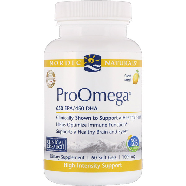 Nordic Naturals, ProOmega, Lemon, 1,000 mg, 60 Soft Gels