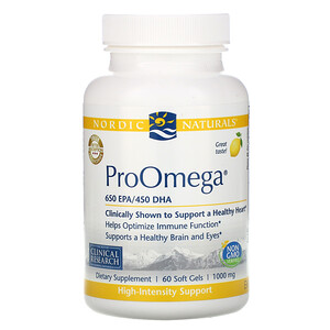 нордик Натуралс, ProOmega, Lemon, 1,000 mg, 60 Soft Gels отзывы
