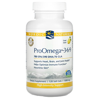 Nordic Naturals, ProOmega 3-6-9, Lemon, 500 mg, 120 Soft Gels