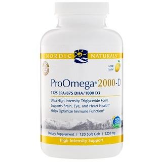 Nordic Naturals, ProOmega-D, Lemon flavor, 1250 mg, 120 Soft gels