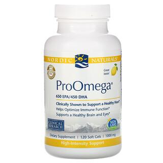 Nordic Naturals, プロオメガ、レモン、1,000 mg、ソフトジェル120錠