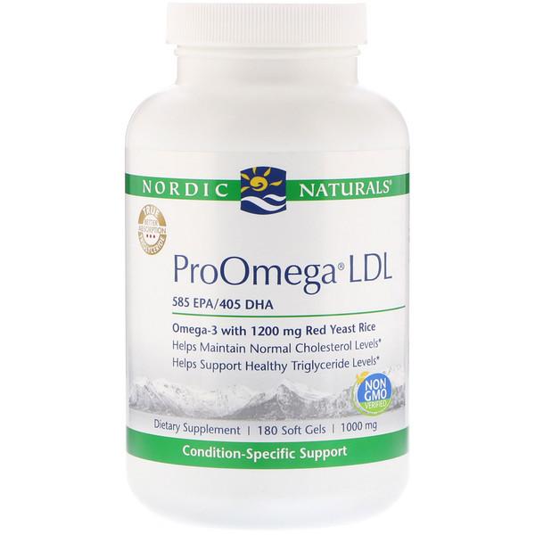 Nordic Naturals, ProOmega LDL, 1000 mg, 180 Soft Gels (Discontinued Item)