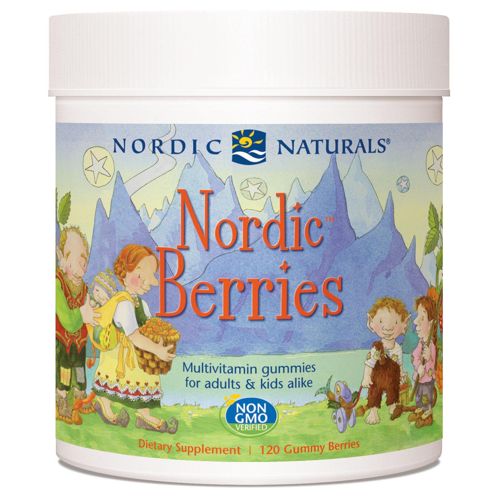 Nordic Naturals, Nordic Berries, поливитаминные жевательные конфеты, 120 жевательных конфет