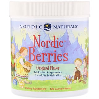 Nordic Naturals, Nordic Berries, Multivitamin Gummies, Original Flavor, 120 Gummy Berries