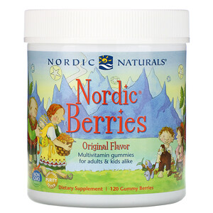 нордик Натуралс, Nordic Berries, Multivitamin Gummies, Original Flavor, 120 Gummy Berries отзывы покупателей