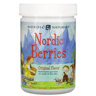 Nordic Naturals, Nordic Berries, мультивитаминные жевательные конфеты, оригинальный вкус, 200жевательных ягодных конфет