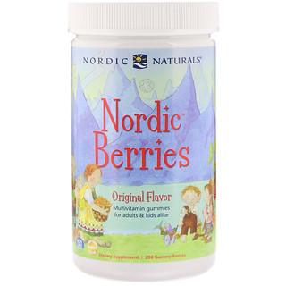 Nordic Naturals, Nordic Berries, мультивитаминные жевательные конфеты, оригинальный вкус, 200 жевательных таблеток в форме ягод