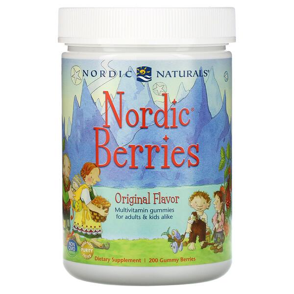 Nordic Berries, Multivitamin Gummies, Original Flavor, 200 Gummy Berries