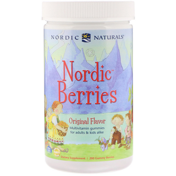 Nordic Berries, Multivitamin Gummies, Original Flavor, 200 Gummy Berries