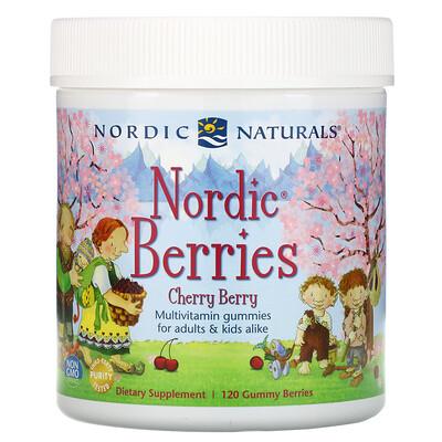 Nordic Naturals Мультивитаминный комплекс Северные ягоды с вишневым вкусом, 120 жевательных пастилок в форме ягод