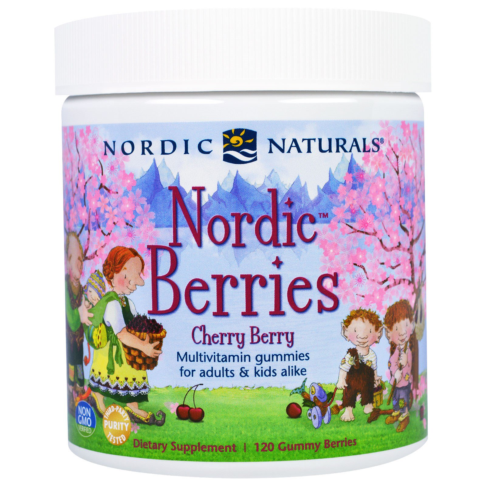 """Nordic Naturals, Мультивитаминный комплекс """"Северные ягоды"""" с вишневым вкусом, 120 жевательных пастилок в форме ягод"""