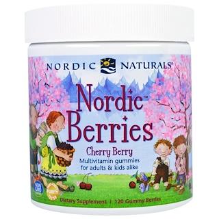 Nordic Naturals, ノルディック・ベリー、チェリー・ベリー、グミベリー120個
