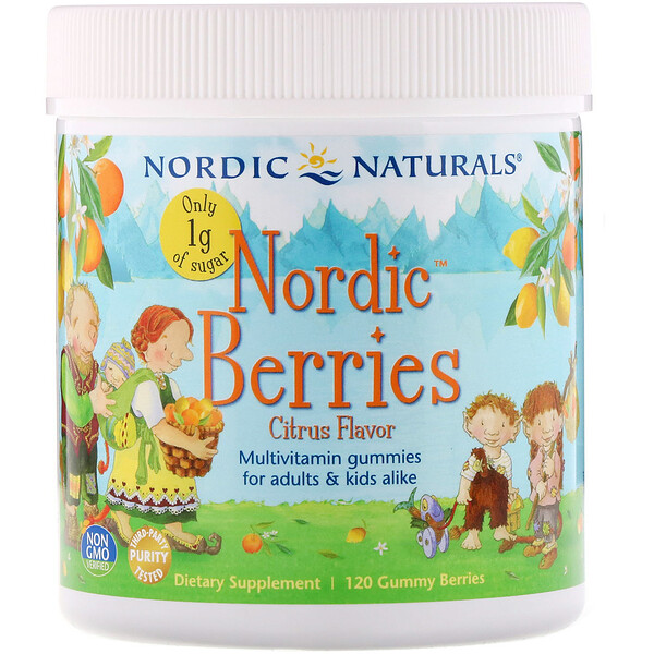 Nordic Berries, Citrus, 120 Gummy Berries
