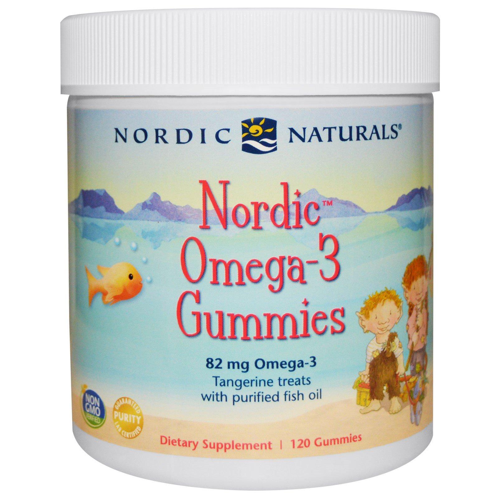 Nordic Naturals, Нордические жевательные конфеты с омега-3 со вкусом мандарина, 120 конфет