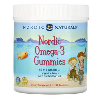 Nordic Naturals, Nordic Omega-3, жевательные конфеты со вкусом мандарина, 82 мг, 120 жевательных конфет