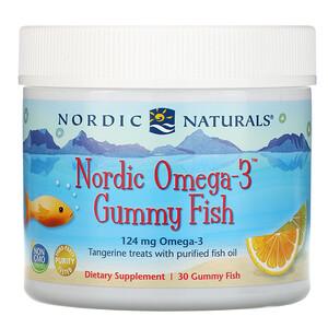 нордик Натуралс, Nordic Omega-3 Gummy Fish, Tangerine Treats, 124 mg, 30 Gummy Fish отзывы покупателей