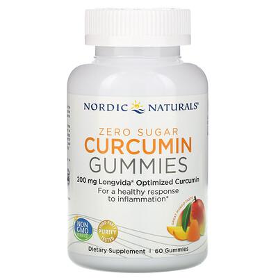 Купить Nordic Naturals Жевательные таблетки куркумин, манго, 200 мг, 60 жевательных таблеток
